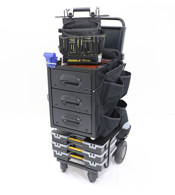 Mobile-Shop SD Express Cart with Vise- (empty Toolbag included)