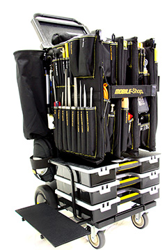 Picture of a black utility maintenance cart