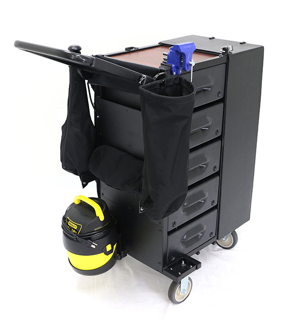Senior Living Facility Rolling Maintenance Cart H30 by Mobile Shop